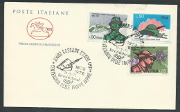 1972 ITALIA FDC CAVALLINO CORPO DEGLI ALPINI NO TIMBRO ARRIVO - KI20 - F.D.C.
