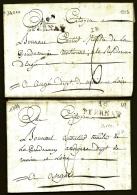 LOT 2 LETTRES PRECURSEURS FRANCE- MARQUE POSTALE : 49- EPERNAY - 1794  ET 1803 - TAXE  6 DECIMES- - Marcophilie (Lettres)