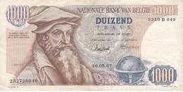 BILLETE DE BELGICA DE 1000 FRANCOS DEL 30-05-1967 DE MERCATOR  (BANKNOTE) - [ 2] 1831-... : Belgian Kingdom