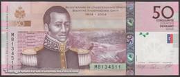 TWN - HAITI 274c - 50 Gourdes 2010 200th Ann. Of Independence - Hybrid Substrate - Prefix M UNC - Haiti
