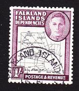 Falkland Islands Dependencies, Scott #1L8, Used, Map, Issued 1946 - Falkland