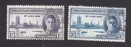 Falkland Islands Dependencies, Scott #1L9-1L10, Used, Peace Issue, Issued 1946 - Falkland Islands