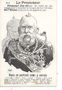 """14/18 TRES BELLE CPA SATIRIQUE ANTI-ALLEMANDE """"ANIMAUX"""" (A LIRE) (IMPORTANT : BIEN ZOOMER) SUPERBE - War 1914-18"""