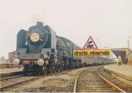 """Pacific 231 K 31 Et Train Rapide """"Flèche D'Or"""", à Calais-Maritime (62) - - Calais"""
