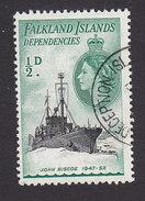 Falkland Islands Dependencies, Scott #1L19, Used, Ships, Issued 1954 - Falkland Islands