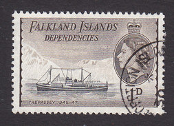 Falkland Islands Dependencies, Scott #1L20, Used, Ships, Issued 1954 - Falkland Islands