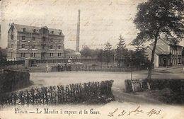 Fléron - Le Moulin à Vapeur Et La Gare (animée, 1903, H. Thône-David) - Fléron