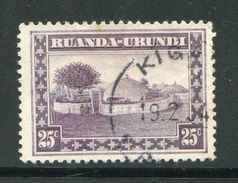RUANDA URUNDI- Y&T N°94- Oblitéré - Ruanda-Urundi
