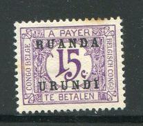 RUANDA URUNDI- Taxe Y&T N°11- Neuf Avec Charnière * (timbre Taché) - Ruanda-Urundi