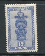 RUANDA URUNDI- Timbre Neuf Avec Charnière * - Ruanda-Urundi