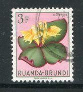 RUANDA URUNDI- Timbre Oblitéré (fleur) - Ruanda-Urundi