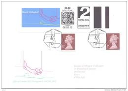 UK Olympic Games London 2012 Letter; Beach Volleyball Pictogram 2nd Class Smart Stamp, Cachet And Cancellation - Eté 2012: Londres