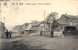 Ougrée - Rue De La Station (animée, Loco, Barrière, 1914...feldpost ) - Seraing
