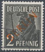 Stamps Berlin 1949 Red 2pf Overprint Used - Berlin (West)