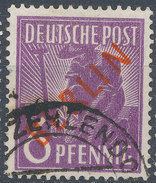 Stamps Berlin 1949 Red 6pf Overprint Used - [5] Berlin
