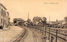 Moha - La Poste Et La Gare (animée, Desaix) - Wanze