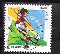 FRANCE Adhésif Oblit 1285 Football Coup Du Foulard - Adhesive Stamps