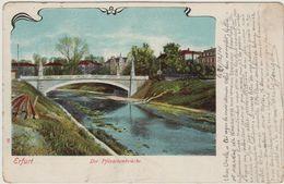 """1 Cpa Erfurt """" Gefangenenlager """" Cachet Avec Aigle """" Camp De Détention 1914 """" - Erfurt"""
