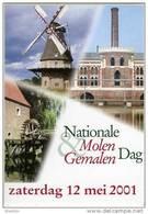 Molen/moulin - STICKER (zelfklever/autocollant) Van De Nationale Molen- En Gemalendag (Nederland) 2001 - Stickers