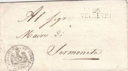 France Italia Dept Conquis Rome Entier 116 VELLETRI Sotto Prefetto Pour Maire Di Sermoneta Latina 1811 (q32) - 1792-1815: Départements Conquis