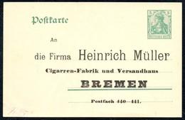 A9604 - Ganzsache - Heinrich Müller Bremen - Cigarren Fabrik - WZ - 9 DR III - Privatpost ?? - Privatpost