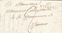 France Italia Dept Conquis Rome Entier 116 VITERBO Pour Mairie De Canino 1810 (q33) - 1792-1815 : Departamentos Conquistados