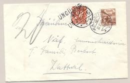 Schweiz - 1947 - 20c Portomarke UNGÜLTIG On Local Cover Watwill - Strafportzegels