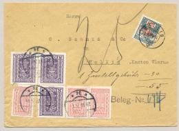 Schweiz - 1924 - 25c Portomarke On Cover From Austria To Mollis - Strafportzegels