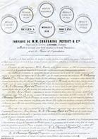 DOCUMENT COMMERCIAL CHASSAING PEYROT & Cie  *Carrières *Meules à Moulin DOMME Dordogne  ANNEES 1860  305 - Straßenhandel Und Kleingewerbe