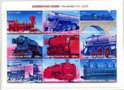 THEMATIQUE TRAINS AZERBADJAN Azerbaycan - 1/2/1996- MNH - Train / Railway   **BLOC NEUF  ** SANS CHARNIERE REF950 - Treni