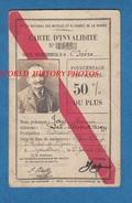 Carte Ancienne D' Invalidité - GRENOBLE - François JAY Cultivateur Les Cotes D' Arcy - 1922 - Saint Michel De St Geoirs - Documents Historiques