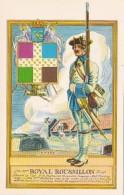 Military Uniforms Private 37th Royal Roussillon Regiment Fort Ticonderoga Curteich - Uniforms