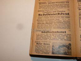 Dobbiaco Toblach Schluderbach Carbonin Schonberg Steinach Am Brenner Hotel Gasthaus Pension Tirol Austria Italy 1914 - Publicidad