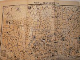 Frankfurt Plan Germany Map Karte - Mappe