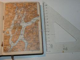 Lago Di Lugano Italy Map Karte 1908 - Mappe