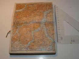 Lago Di Como LeccoLugano Ticino Italy Map Karte 1908 - Mappe