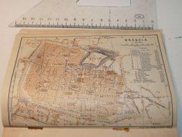 Bresica Italy Map Karte 1908 - Mappe