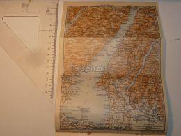 Lago Di Garda Italy Map Karte 1908 - Mappe