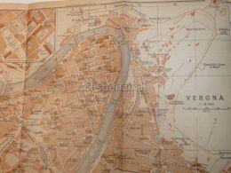 Verona Italy Map Karte 1908 - Mappe