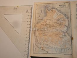 Mantova Italy Map Karte 1908 - Mapas