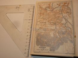 Vicenza Italy Map Karte 1908 - Mapas
