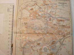 Padova Italy Map Karte 1908 - Mapas