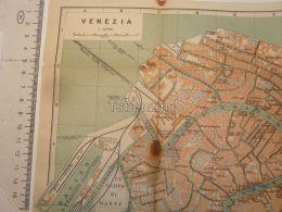 Venezia Italy Map Karte 1908 - Mappe