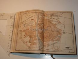 Parma Italy Map Karte 1908 - Mappe