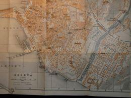 Genova Italy Map Karte 1908 - Mappe