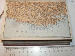 Mare Ligure Genova Rapallo Italy Map Karte 1908 - Mappe