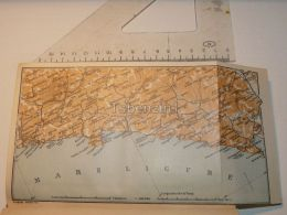 Mare Ligure Italy Map Karte 1908 - Mappe
