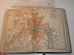 Pisa Italy Map Karte 1908 - Mappe