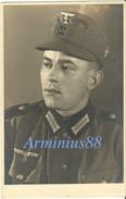 Wehrmacht - Heer - Gebirgsjäger - Leoben - Chasseur Alpin - Schütze - Militaires Du Rang - Einheitsfeldmütze - Krieg, Militär