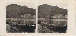 Stereofoto, Duitsland/Deutschland, Die Mosel, Traben, Blick Auf Gräfinburg, Ca. 1935 - Stereoscopic